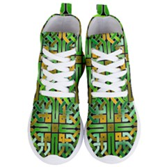Green Celtic Knot Square Women s Lightweight High Top Sneakers