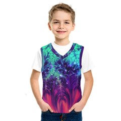 Bluegreen And Pink Fractal Kids  Sportswear by bloomingvinedesign