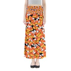Candy Corn Pattern Full Length Maxi Skirt by bloomingvinedesign