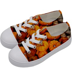 Pile Of Tiny Pumpkins Kids  Low Top Canvas Sneakers by bloomingvinedesign