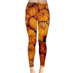 Pile Of Tiny Pumpkins Inside Out Leggings by bloomingvinedesign