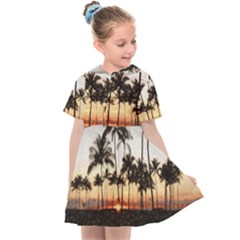Hawaiian Sunset Kids  Sailor Dress