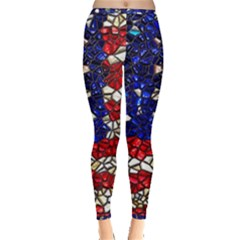 American Flag Mosaic Inside Out Leggings