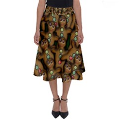 Gingerbread Cookie Collage Perfect Length Midi Skirt by bloomingvinedesign