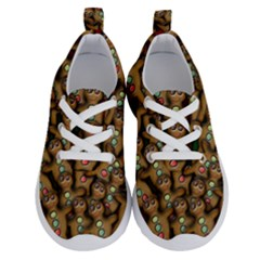 Gingerbread Cookie Collage Running Shoes by bloomingvinedesign