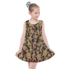 Gingerbread Cookie Collage Kids  Summer Dress by bloomingvinedesign