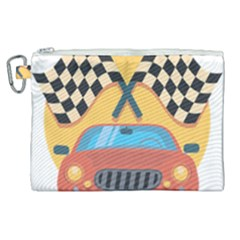 Automobile Car Checkered Drive Canvas Cosmetic Bag (xl) by Samandel