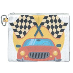 Automobile Car Checkered Drive Canvas Cosmetic Bag (xxl) by Samandel