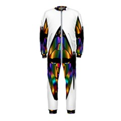 Abstract Animal Art Butterfly Onepiece Jumpsuit (kids) by Samandel