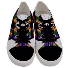 Abstract Animal Art Butterfly Men s Low Top Canvas Sneakers