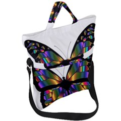 Abstract Animal Art Butterfly Fold Over Handle Tote Bag