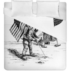 Apollo Moon Landing Nasa Usa Duvet Cover Double Side (king Size) by Samandel