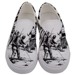 Apollo Moon Landing Nasa Usa Men s Canvas Slip Ons