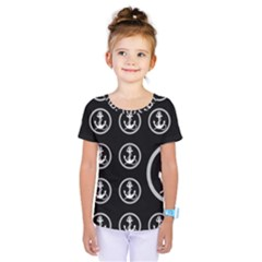 Anchor Pattern Kids  One Piece Tee