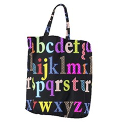 Alphabet Letters Colorful Polka Dots Letters In Lower Case Giant Grocery Tote