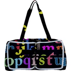 Alphabet Letters Colorful Polka Dots Letters In Lower Case Multi Function Bag