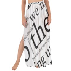 Abstract Minimalistic Text Typography Grayscale Focused Into Newspaper Maxi Chiffon Tie Up Sarong