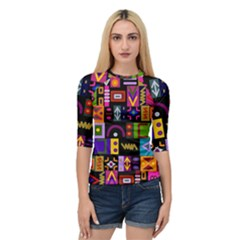 Abstract A Colorful Modern Illustration Quarter Sleeve Raglan Tee by Samandel