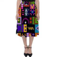 Abstract A Colorful Modern Illustration Classic Midi Skirt