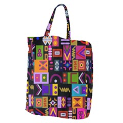 Abstract A Colorful Modern Illustration Giant Grocery Tote