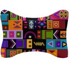 Abstract A Colorful Modern Illustration Seat Head Rest Cushion