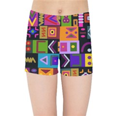 Abstract A Colorful Modern Illustration Kids Sports Shorts