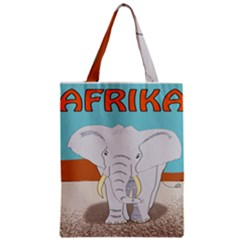 Africa Elephant Animals Animal Zipper Classic Tote Bag