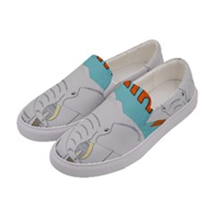 Africa Elephant Animals Animal Women s Canvas Slip Ons by Samandel