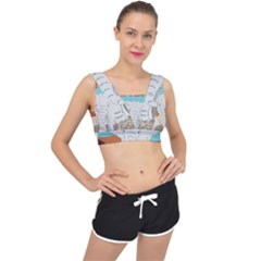 Africa Elephant Animals Animal V Back Sports Bra