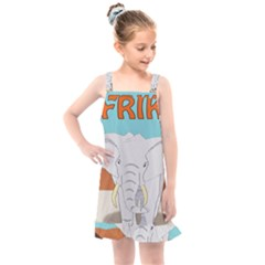 Africa Elephant Animals Animal Kids  Overall Dress
