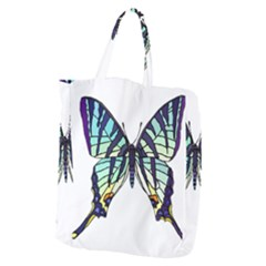A Colorful Butterfly Giant Grocery Tote