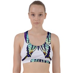 A Colorful Butterfly Back Weave Sports Bra
