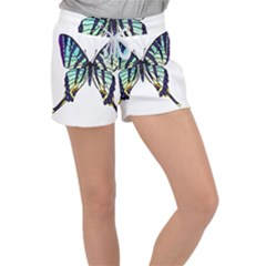 A Colorful Butterfly Women s Velour Lounge Shorts