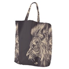 Angry Male Lion Giant Grocery Tote