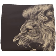 Angry Male Lion Seat Cushion