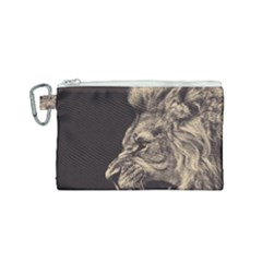 Angry Male Lion Canvas Cosmetic Bag (small)