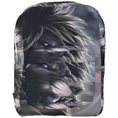 Angry Lion Digital Art Hd Full Print Backpack