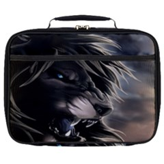 Angry Lion Digital Art Hd Full Print Lunch Bag