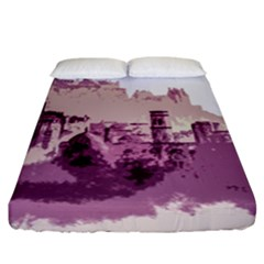 Abstract Painting Edinburgh Capital Of Scotland Fitted Sheet (king Size) by Samandel