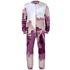 Abstract Painting Edinburgh Capital Of Scotland Onepiece Jumpsuit (men)  by Samandel