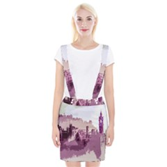 Abstract Painting Edinburgh Capital Of Scotland Braces Suspender Skirt