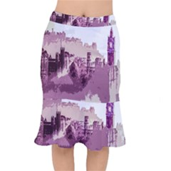 Abstract Painting Edinburgh Capital Of Scotland Mermaid Skirt