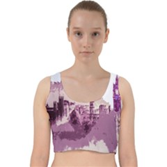 Abstract Painting Edinburgh Capital Of Scotland Velvet Racer Back Crop Top