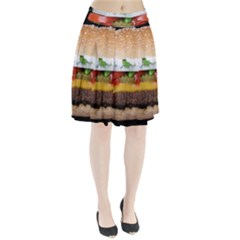 Abstract Barbeque Bbq Beauty Beef Pleated Skirt