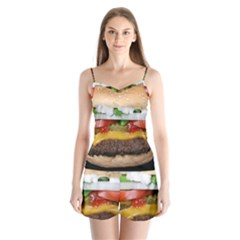 Abstract Barbeque Bbq Beauty Beef Satin Pajamas Set