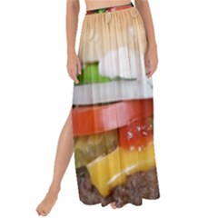 Abstract Barbeque Bbq Beauty Beef Maxi Chiffon Tie Up Sarong