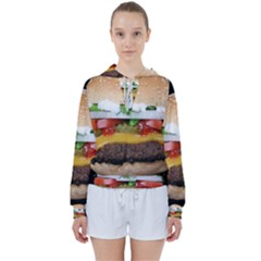 Abstract Barbeque Bbq Beauty Beef Women s Tie Up Sweat