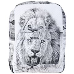 Lion Wildlife Art And Illustration Pencil Full Print Backpack