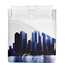 Abstract Of Downtown Chicago Effects Duvet Cover Double Side (full/ Double Size)