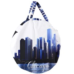 Abstract Of Downtown Chicago Effects Giant Round Zipper Tote